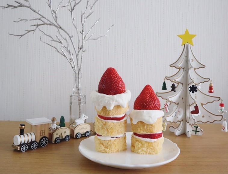 カステラキャンドルケーキ